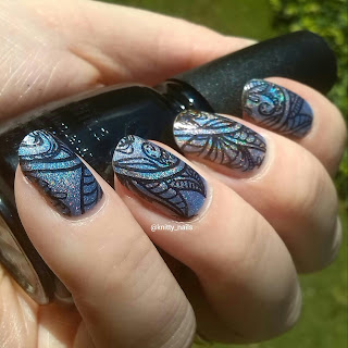 Messy Mansion Leadlight Lacquer A04 and China Glaze Liquid Leather