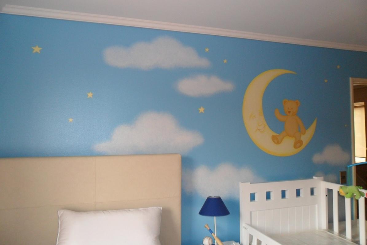Murales infantiles agosto 2012 for Mural la misma luna