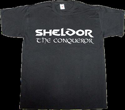 The Big Bang Theory sheldon Cooper fun conan t-shirt ephemeral-t-shirts