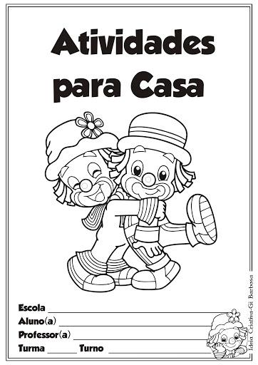 Capas de Caderno para colorir Patati Patatá
