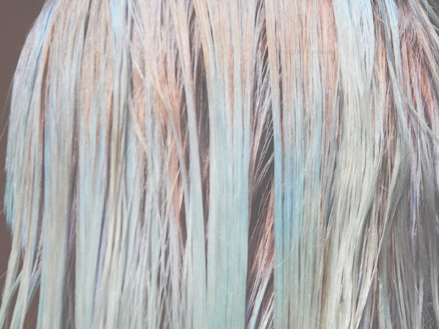 Icy blue wet hair