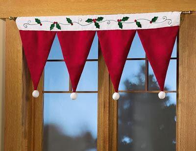 cortina de natal - patchwork