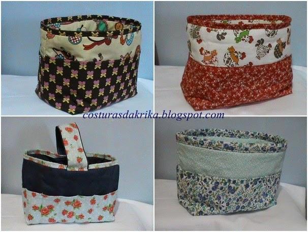 cestos em tecido