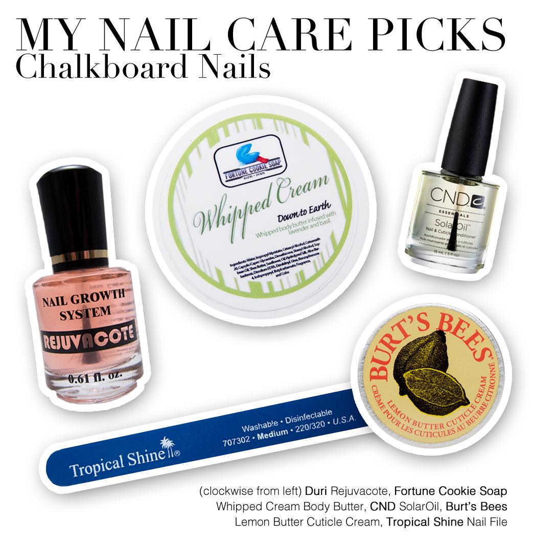 My Hand and Nail Care Routine   Chalkboard Nails   Nail Art Blog