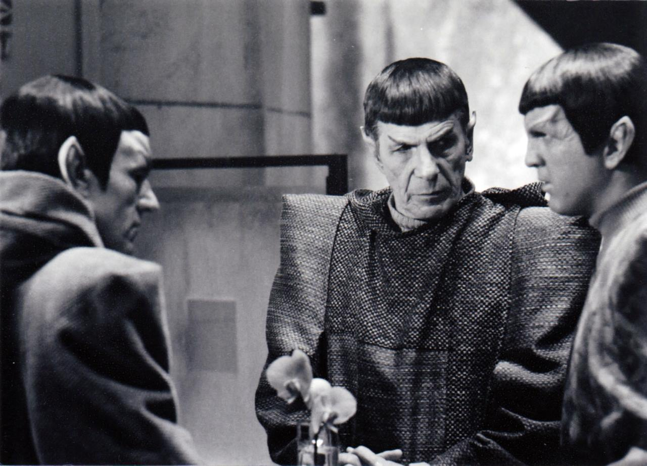 With Leonard Nimoy/ Mr. Spock....he will be missed!!