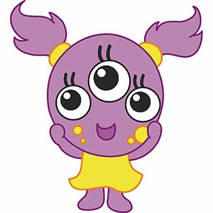 free clip arts: Cute Baby Girly Monsters vector clip arts illustration ...