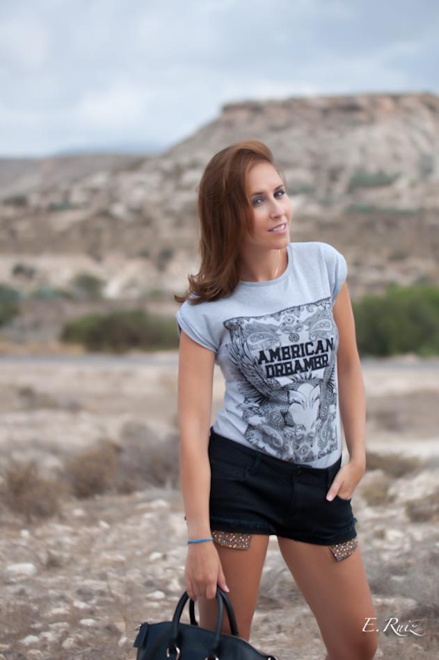 Look camisetas baratas + short tachuelas - NO SOY TU ESTILO