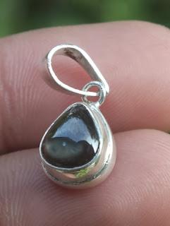 black sapphire pendant