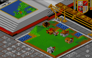 上帝也瘋狂(Populous)硬碟綠色免安裝Dosbox整合版下載,早期最佳的軍事或戰略電腦遊戲!
