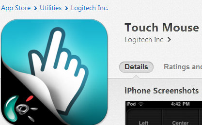 Touch Mouse app on the App Store