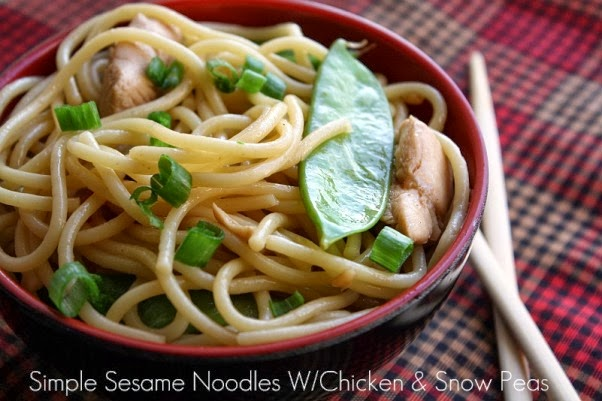 ... From my Texas Kitchen: Simple Sesame Noodles W/Chicken & Snow Peas