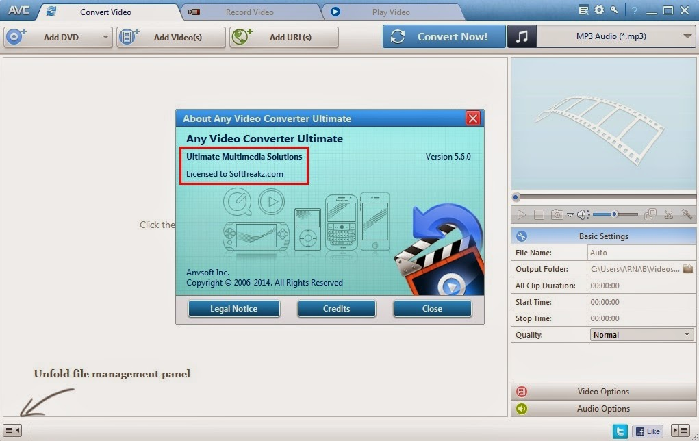 Any Video Converter Ultimate 5.5.6 Screen 2