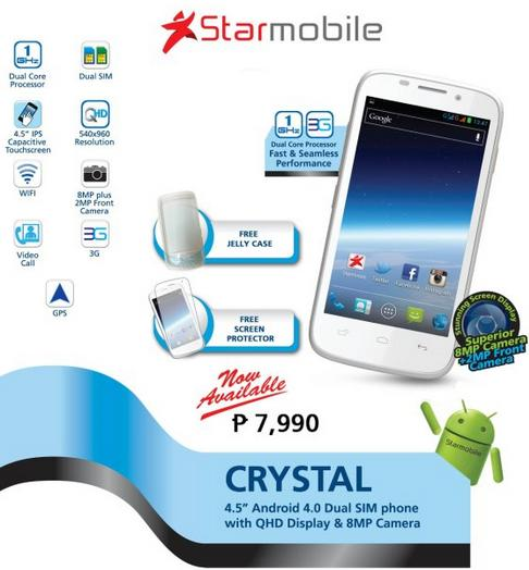Latest dual core Android phone of StarMobile - CRYSTAL with qHD