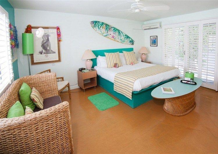 Habitaciones tema surf ideas para decorar dormitorios for Chica azul dormitorio deco