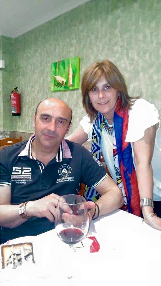 María Elena Calviño Canedo y Manuel Arnejo.