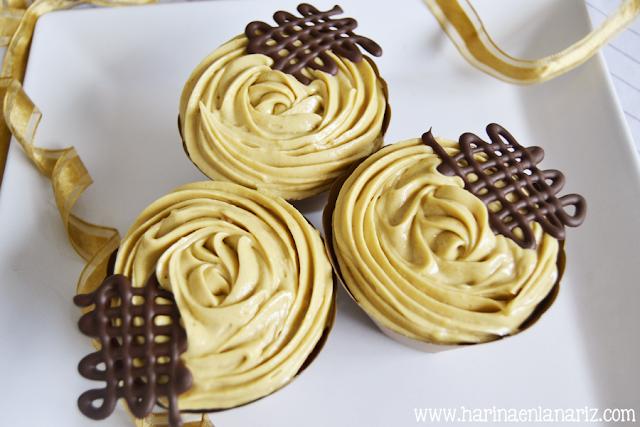 cupcake de turrón de Jijona