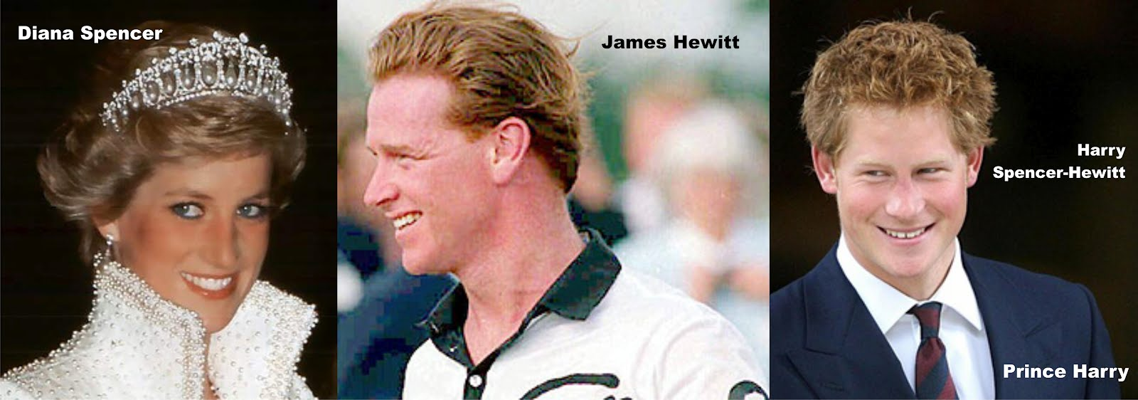 Picture: Diana Spencer & James Hewitt & Prince Harry Spencer-Hewitt.
