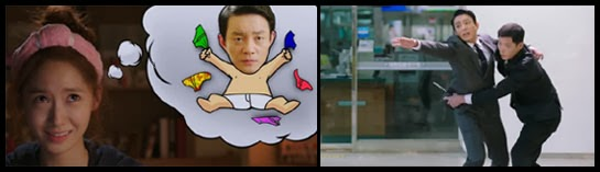 Nam Da Jung imagines Kwol Yul's head on a cartoon wearing briefs, Kwon Yul reaches out to her desperately.