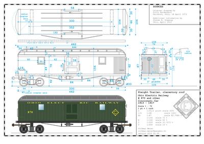 Interurban Railways Ohio Electric Box Car Diagram
