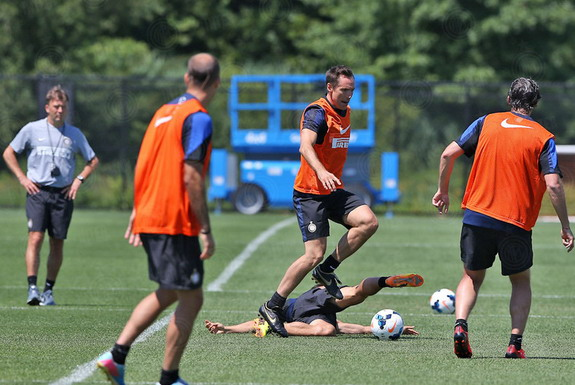 LA Lakers star Steve Nash in action during a tryout with Inter Milan in New Jersey