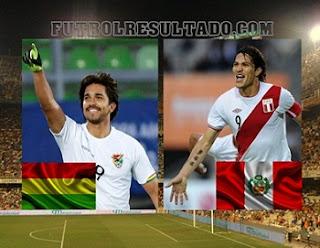 Jugadores de Perú y Bolivia