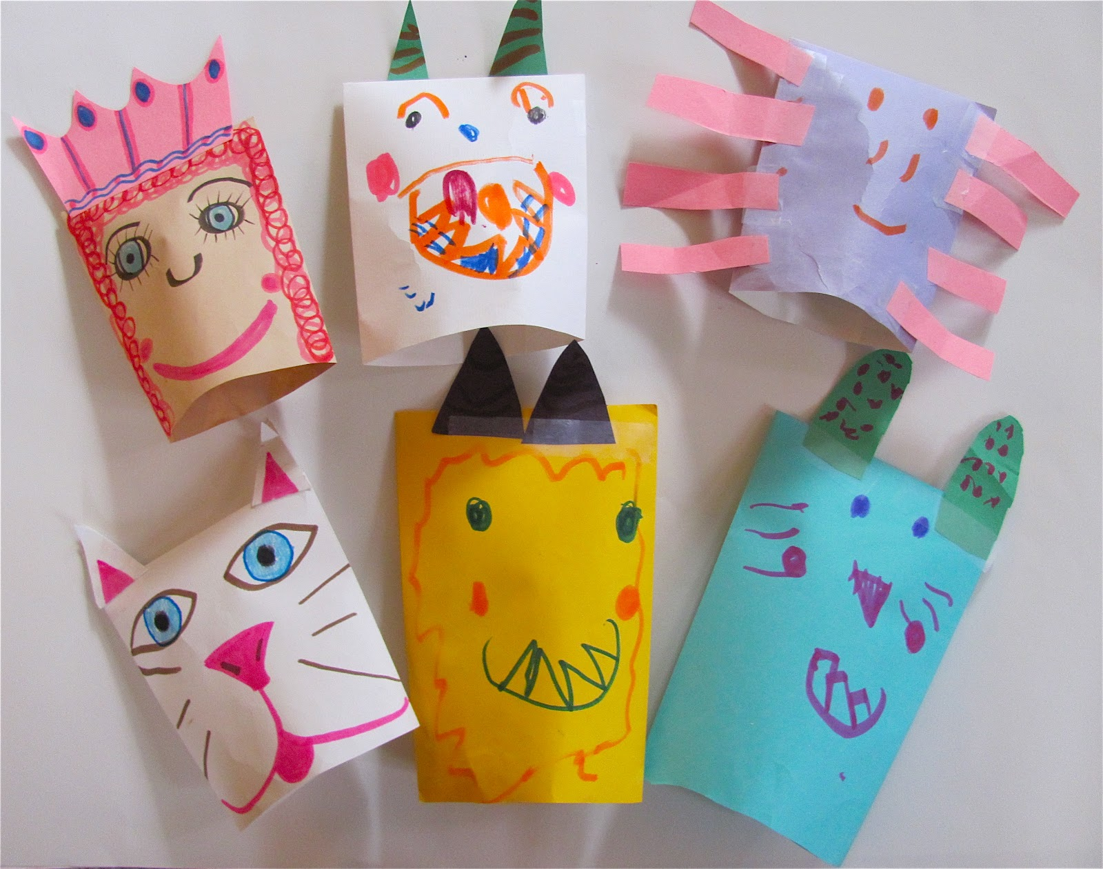 The chocolate muffin tree super easy envelope puppets for Crafts for 4 and 5 year olds
