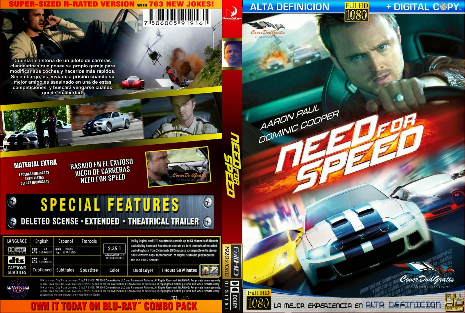 Video's van Need for speed (2017) blu-ray 3d