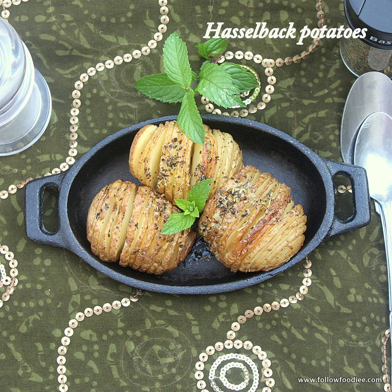 HASSELBACK POTATO RECIPE | LOW FAT RECIPES