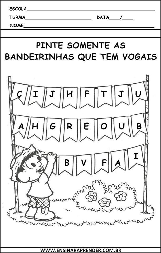 Fabuloso ATIVIDADES COM VOGAIS | Cantinho do Educador Infantil XV56