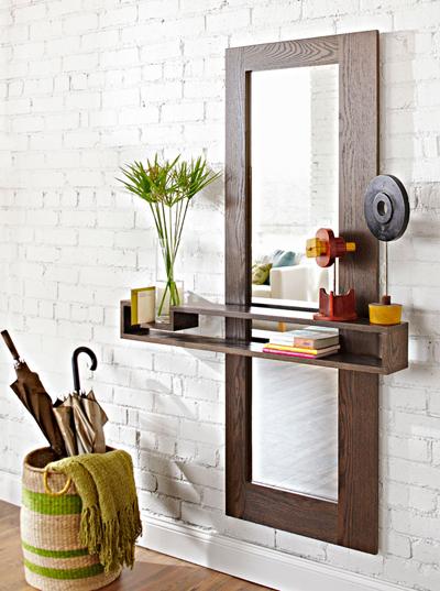 DIY Entryway Shelf Mirror