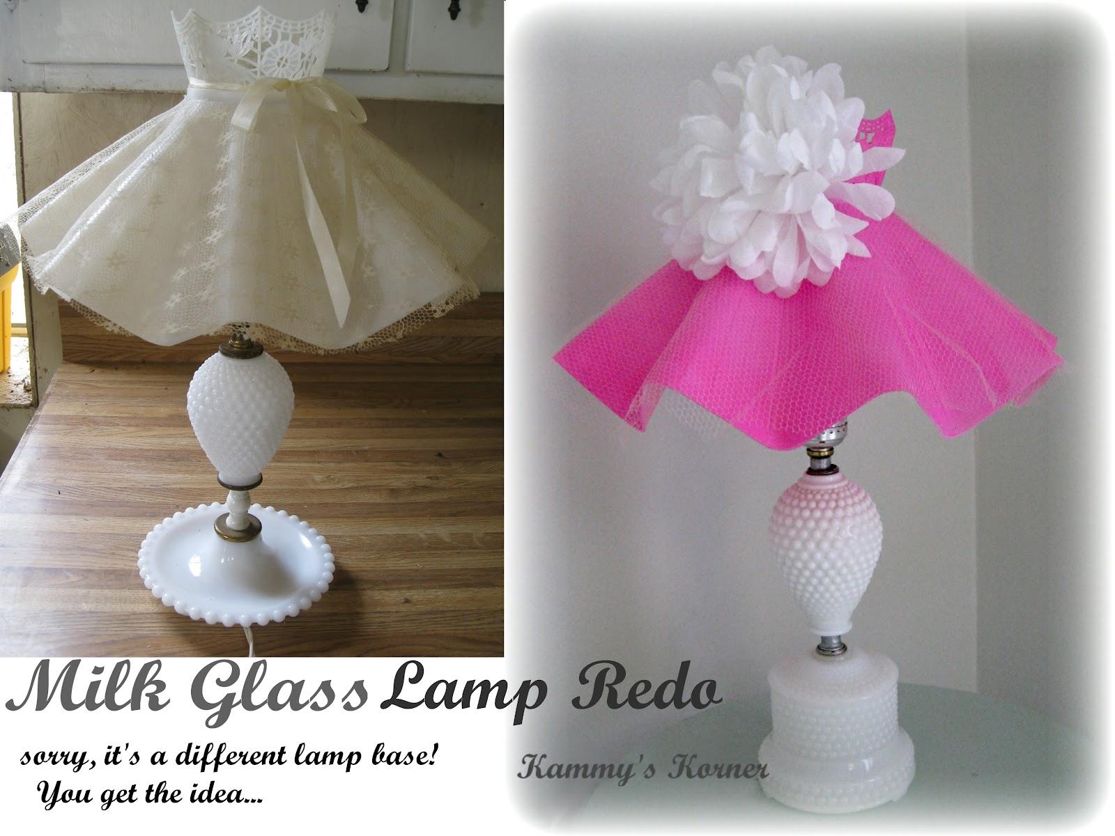 Kammys korner darling n girly milk glass lamp aloadofball Gallery