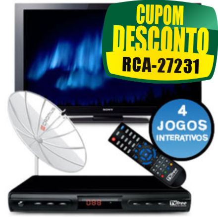 Cupom Efácil - TV 40 Full HD Sony + Antena Parabolica Digital Cromus