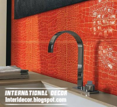 modern red wall tiles shapes and designs for bathroom