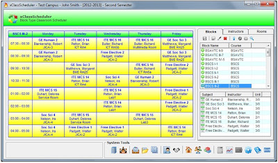 Classroom Scheduler,Class sched, timetable
