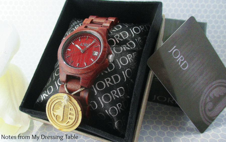 Jord Watch Packaging and Watch Ely Series in Cherry notesfrommydressingtable.com