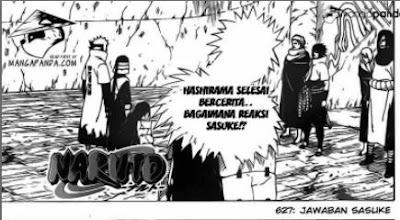 Hashirama selesai bercerita Bagaimana reaksi Sasuke?