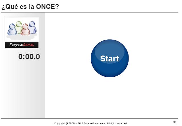 La imagen muestra la  página donde se podrá realizar el examen tipo test