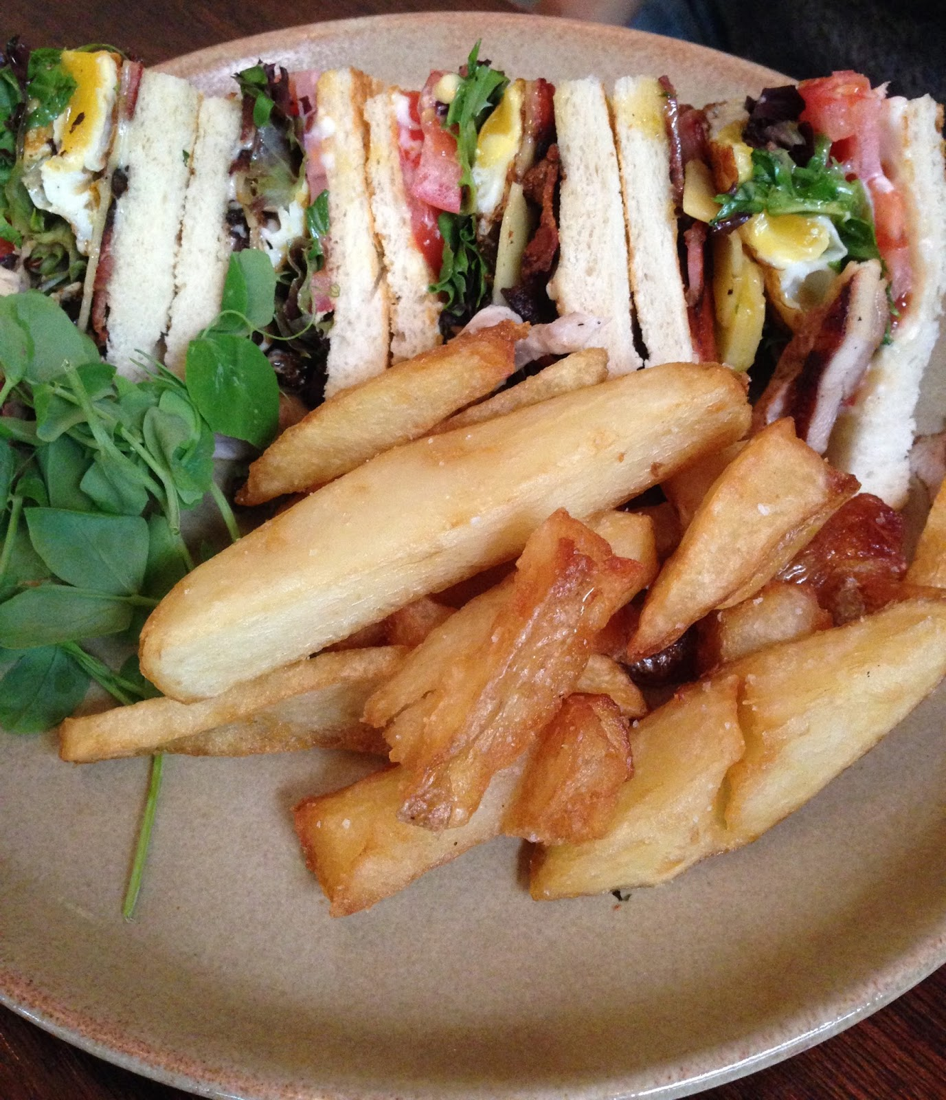 delicatessen kitchen and bar, adelaide, food, waymouth, club sandwich, fries, lunch