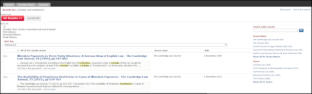 Image of LexisLibrary search screen