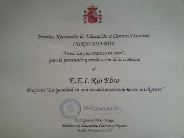 Premio Nacional de Educación a Centros Docentes. Curso 2013-2014.