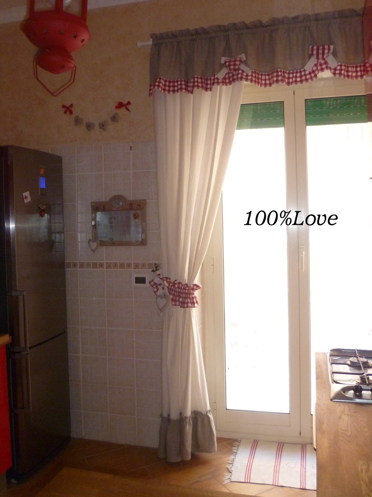100 love tenda country cucina - Tendine a vetro per cucina ...