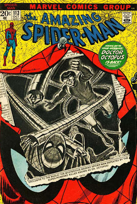 Amazing Spider-Man #113, Dr Octopus bursts out of a newspaper