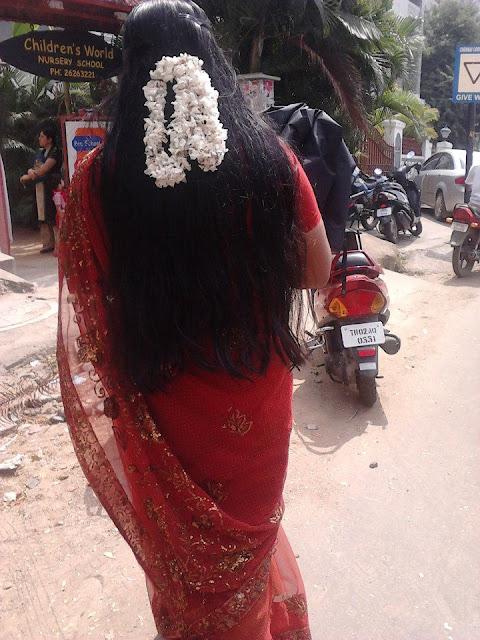 Hip length long hair lady