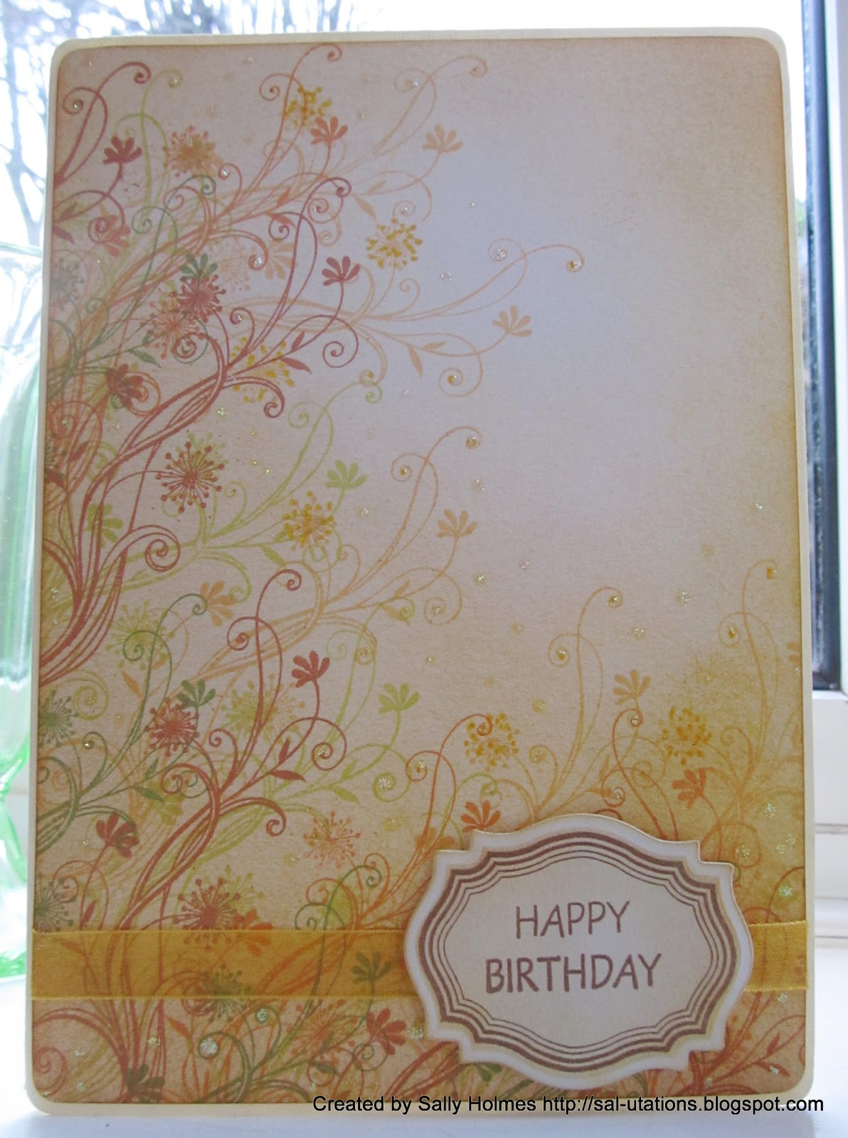 Crafty Salutations A Quick Mid Week Birthday Card
