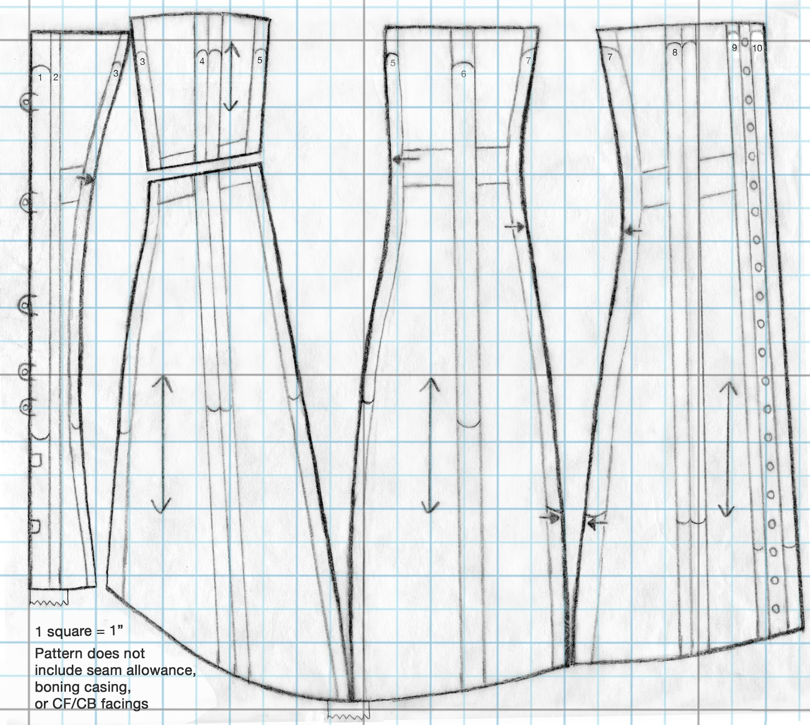 Festive Attyre: 1910\'s corset pattern and instructions