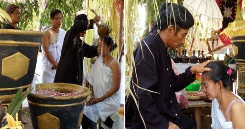 Ritual mandi air suci majapahit