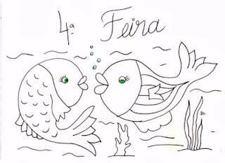 desenho casal de peixes para pintar