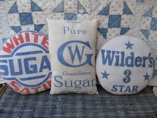 sugar sack pillows