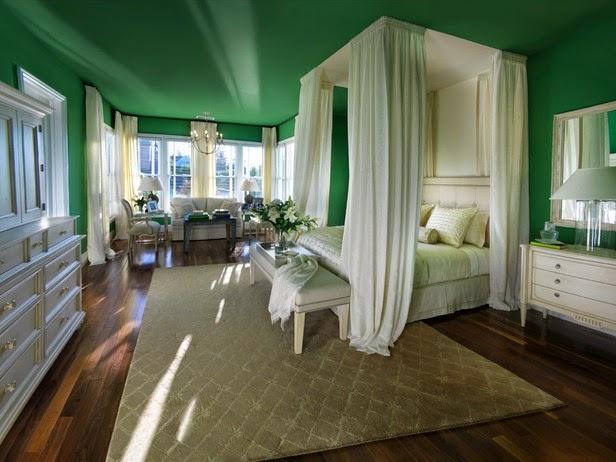 plafon rumah warna hijau
