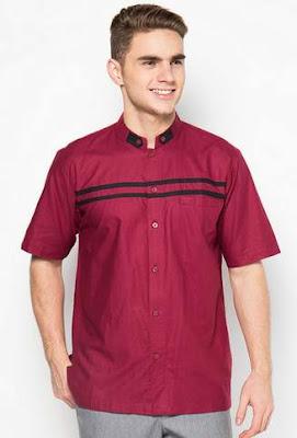 Contoh desain baju koko lebaran modern saat ini